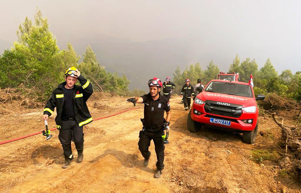 Grčka požar vatrogasci