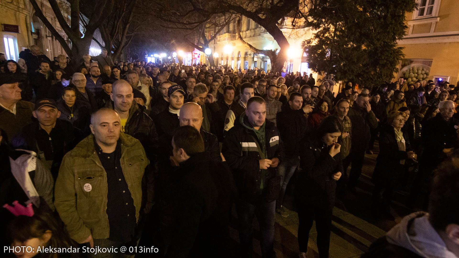 Protest #1od5miliona u Pančevu 1. marta