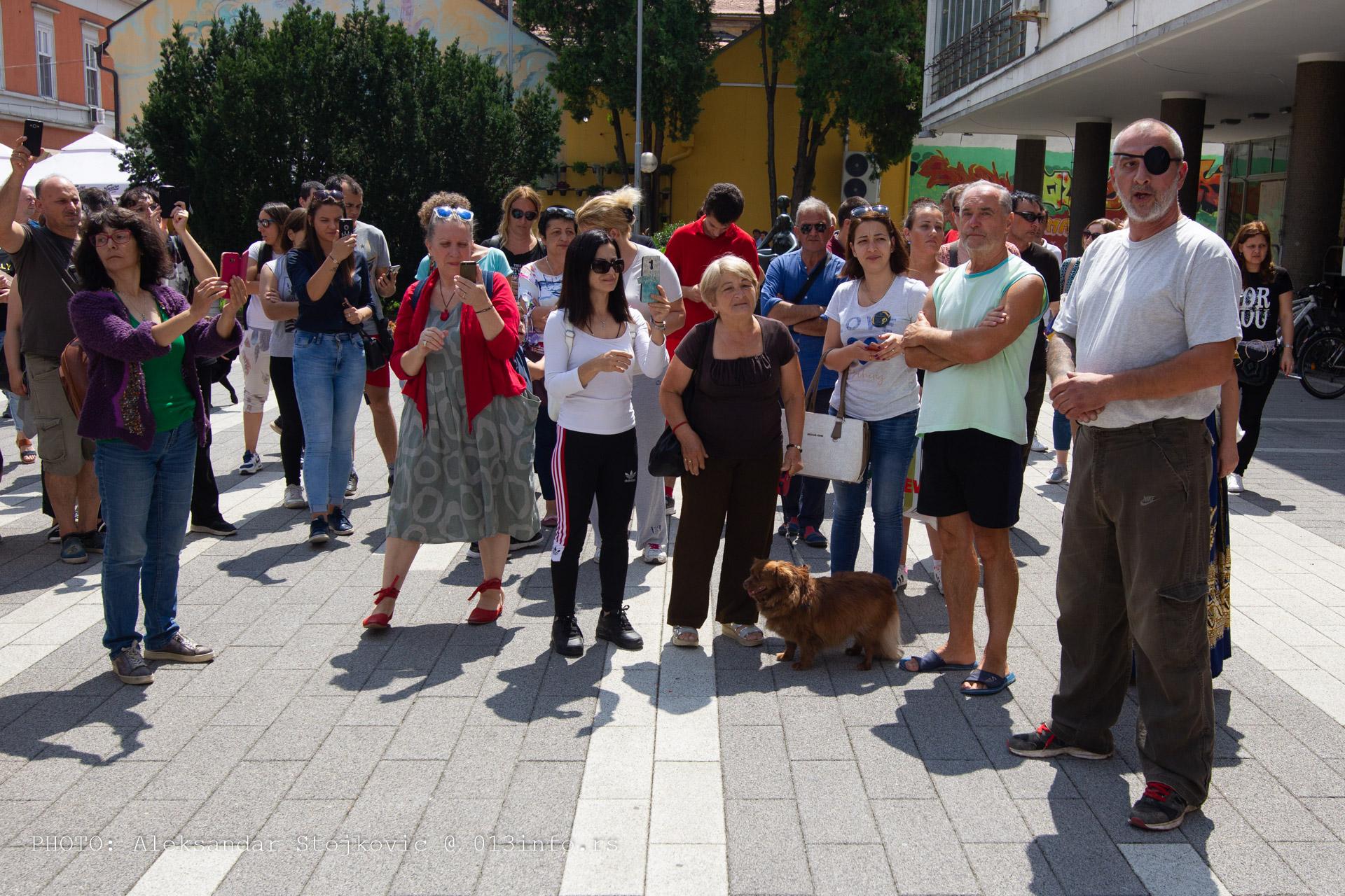 Protest protiv trovanja pasa Pančevo