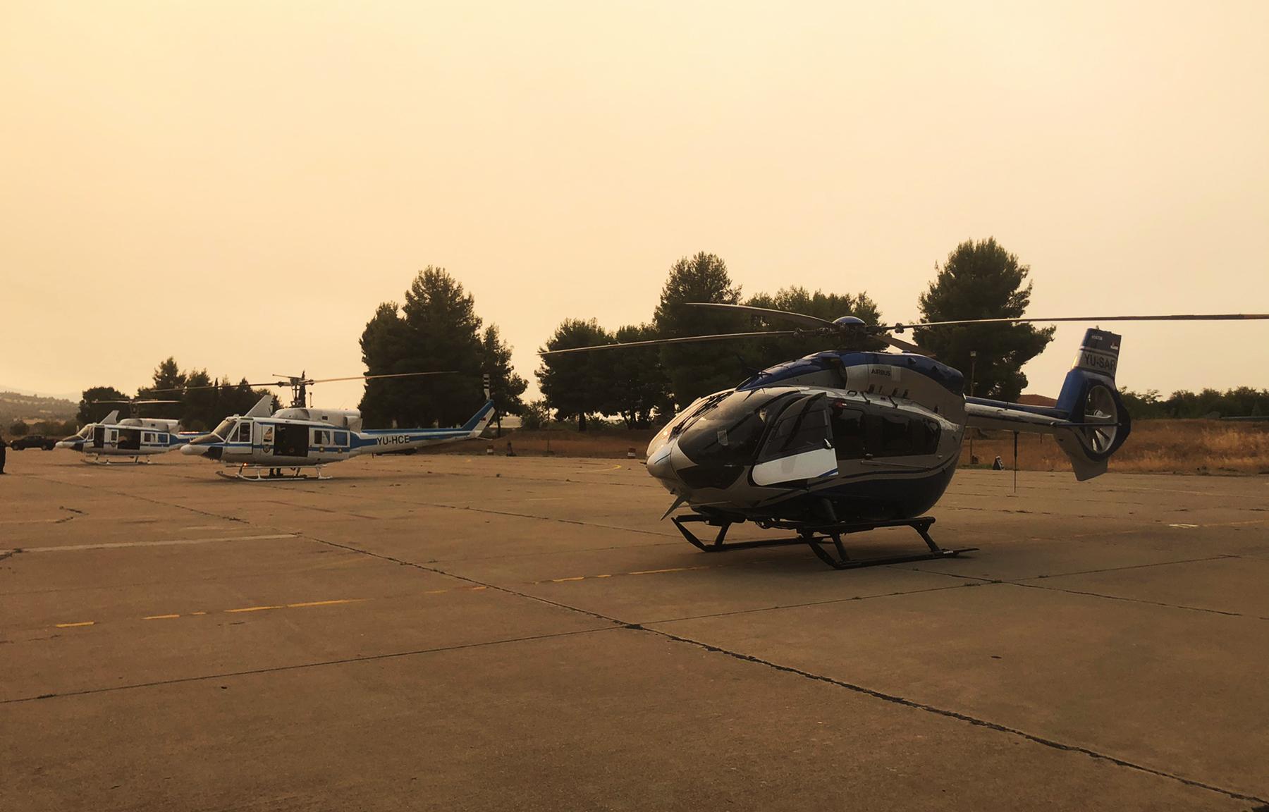 Grčka požar helikopteri