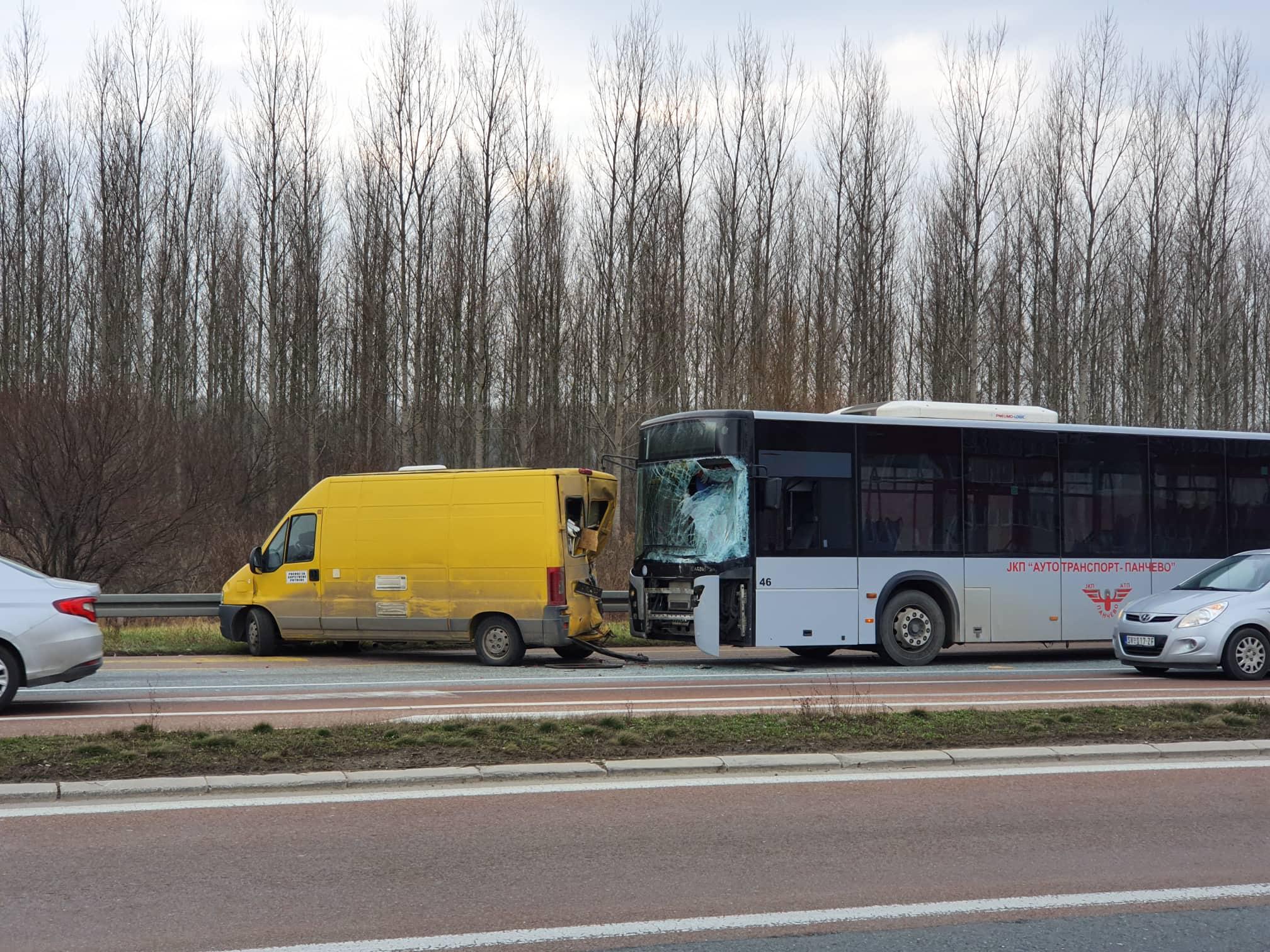 Udes na putu Pančevo Beograd