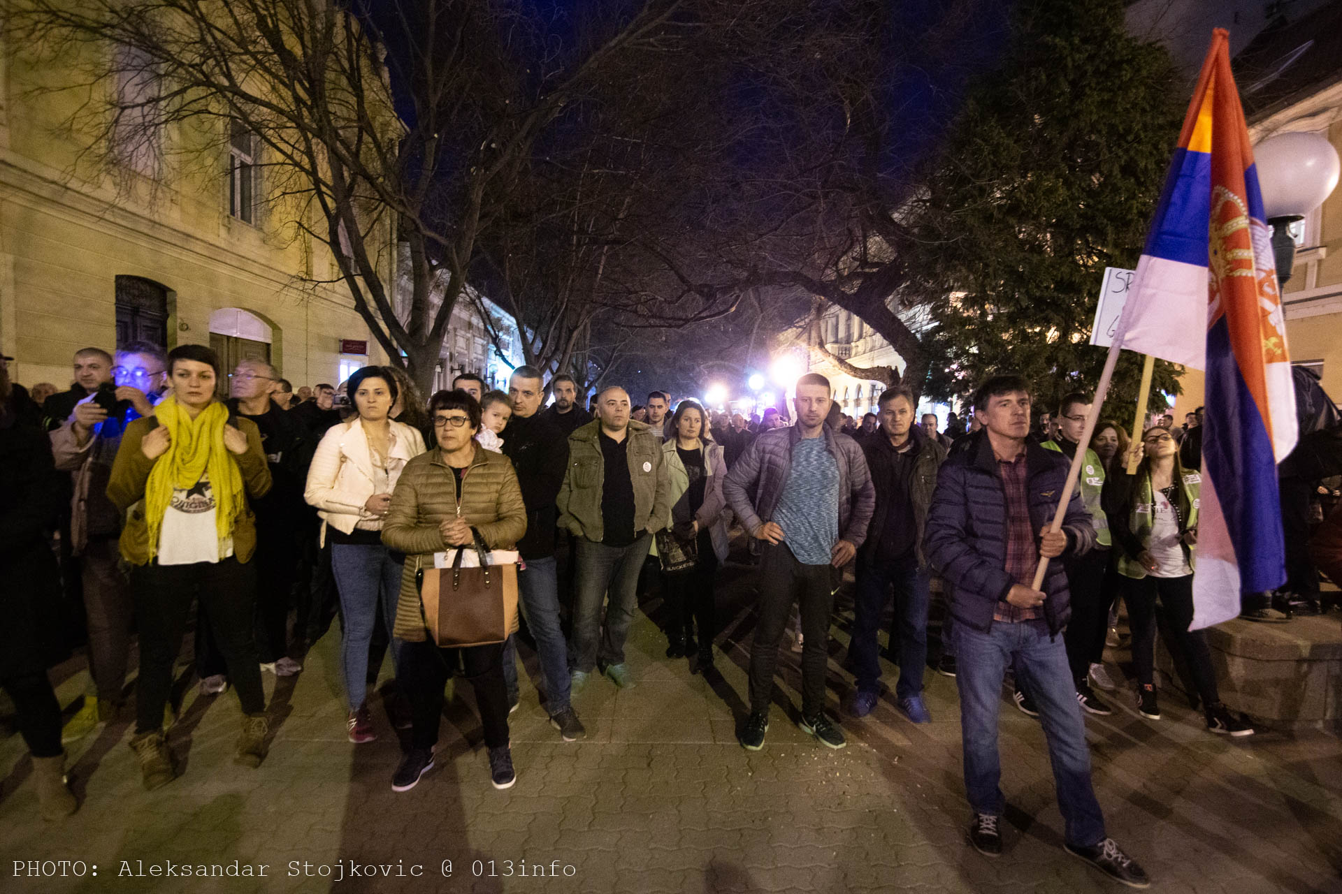 Protest #1od5miliona u Pančevu 8. marta