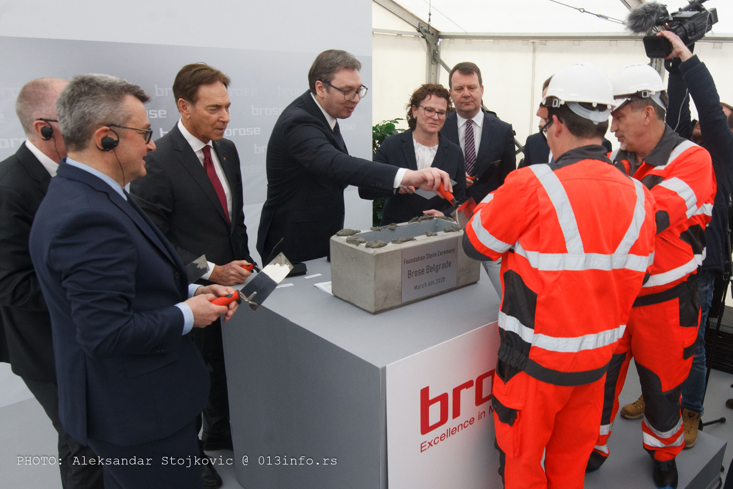 Polaganje vremenske kapsule i početak gradnje fabrike Brose u Pančevu