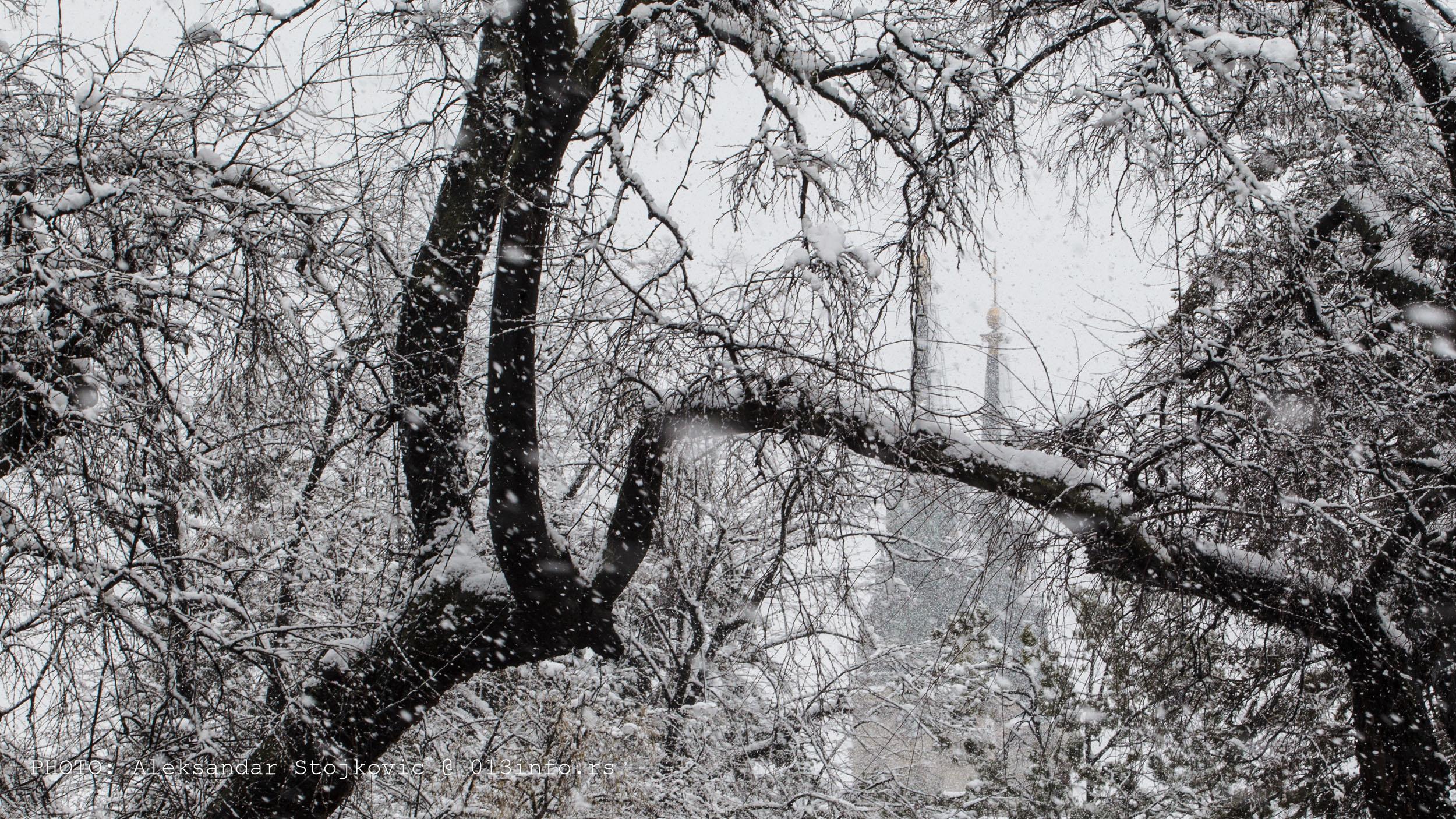 Sneg u martu u Pančevu