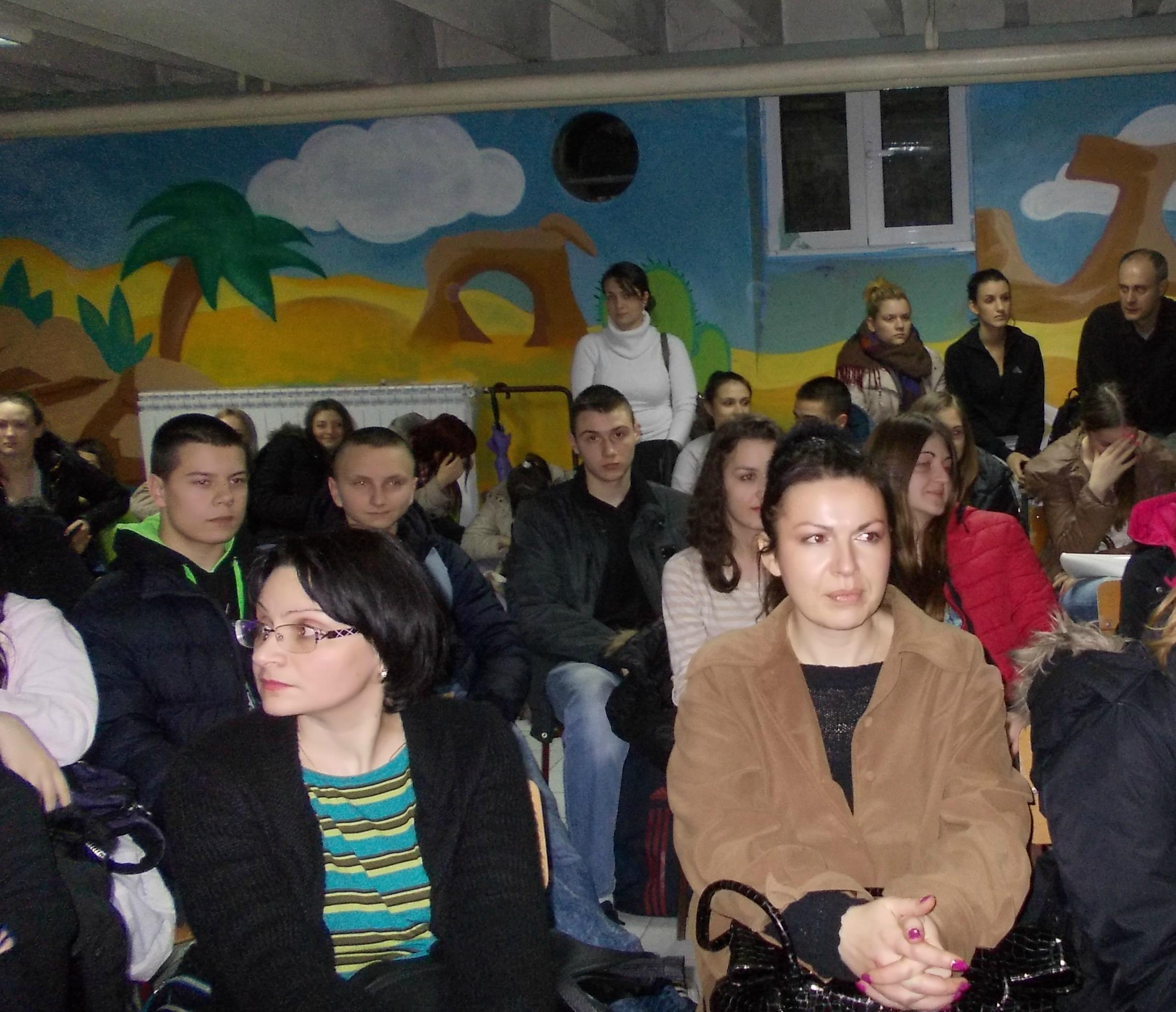 Književno veče sa Zoranom T. Popovićem, Tehnička škola