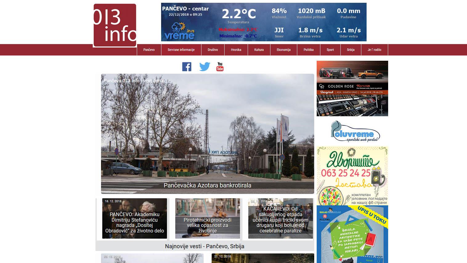 Portal 013info Pančevo