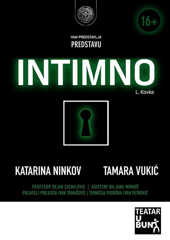 """Pozorišna predstava """"Intimno"""""""