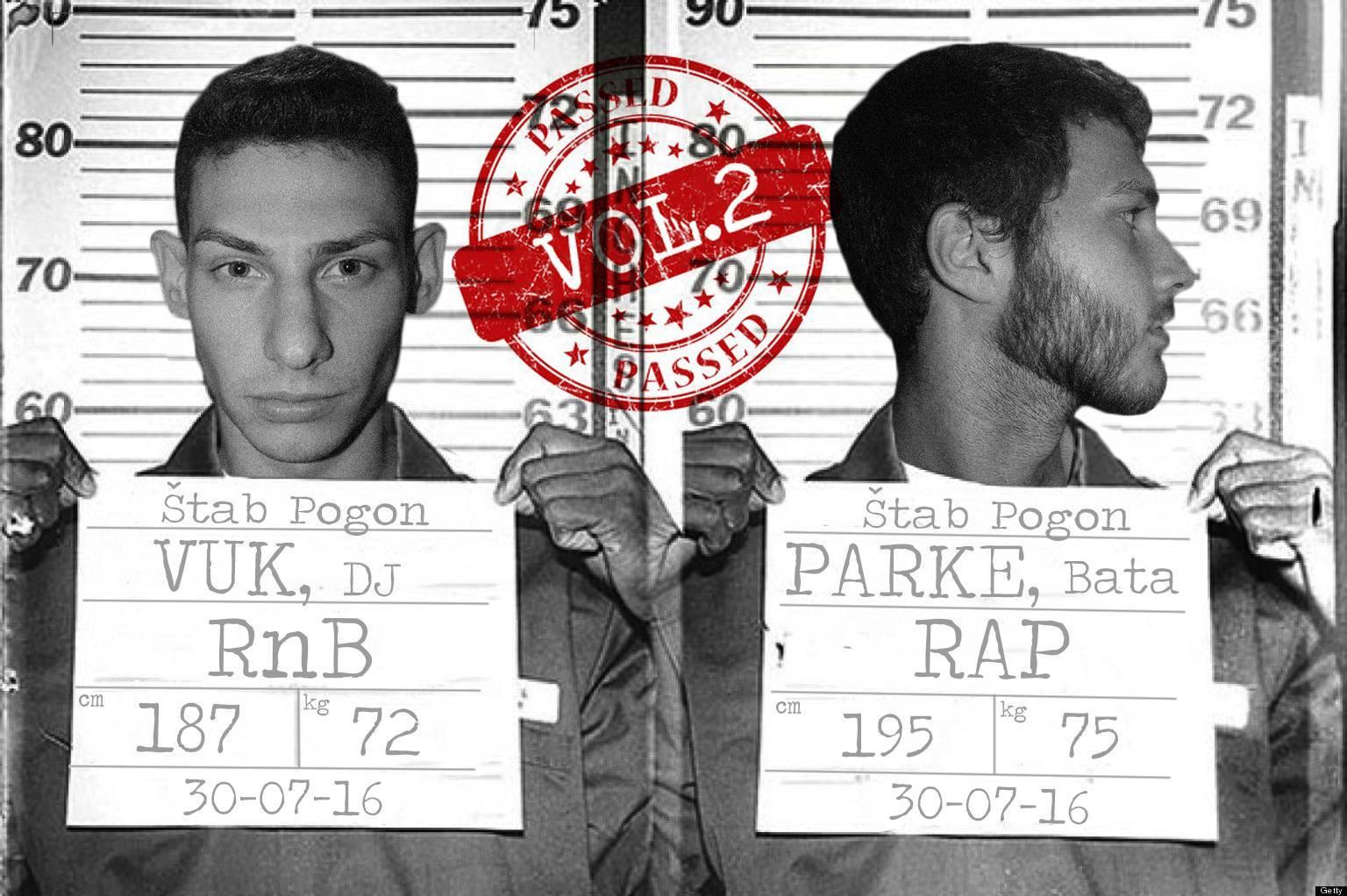 Plakat najave za rap i rnb žurku u Štab Pogonu