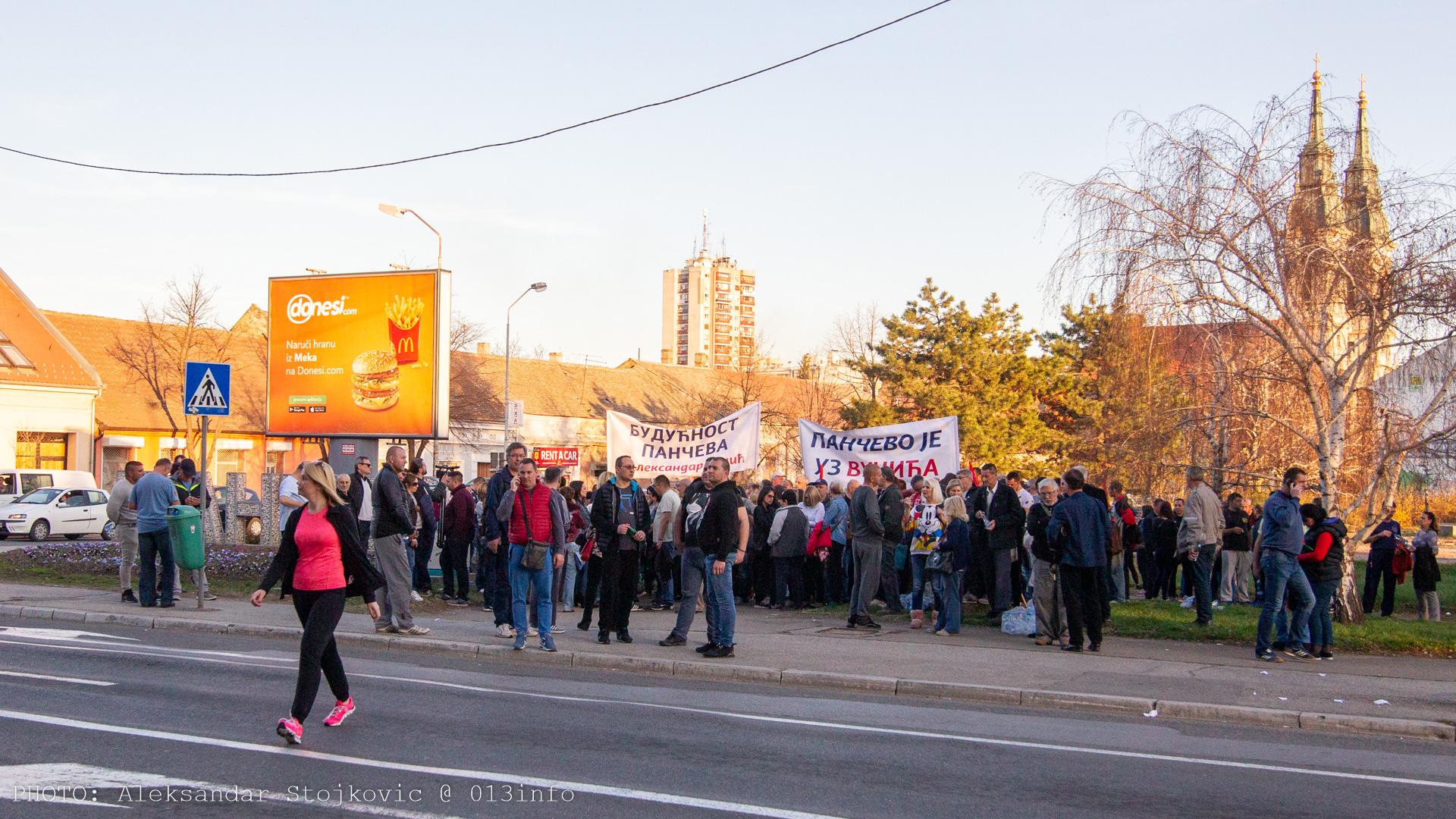 Skup podrške Aleksandru Vučiću u Pančevu