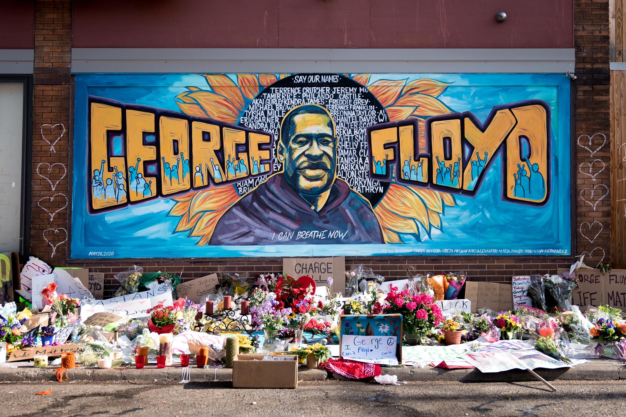 Džordž Flojd mural