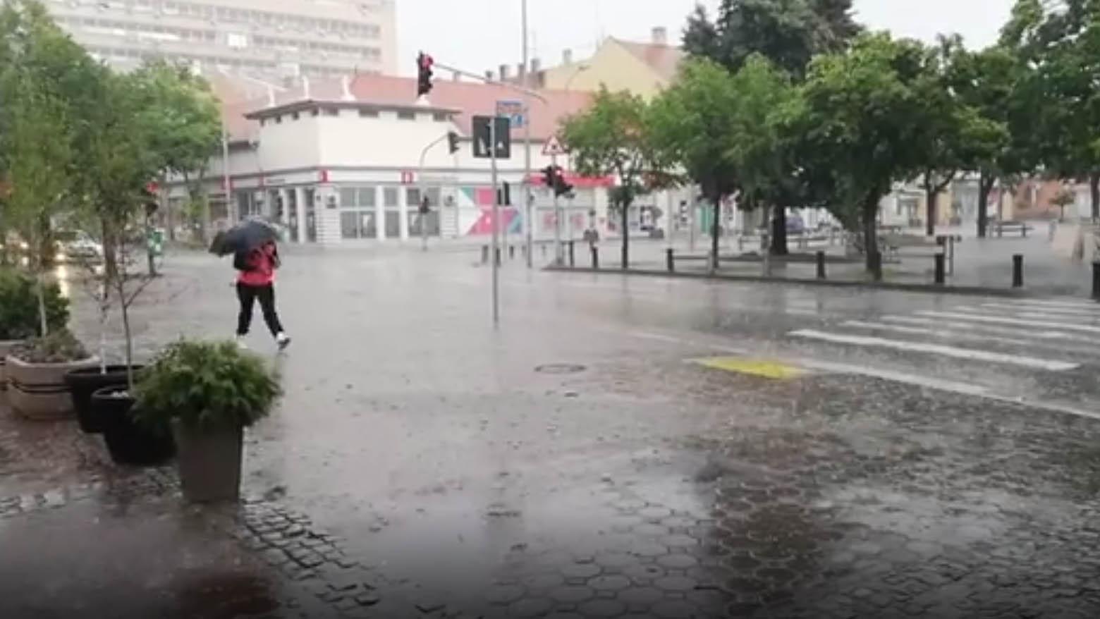grad i kiša u Pančevu