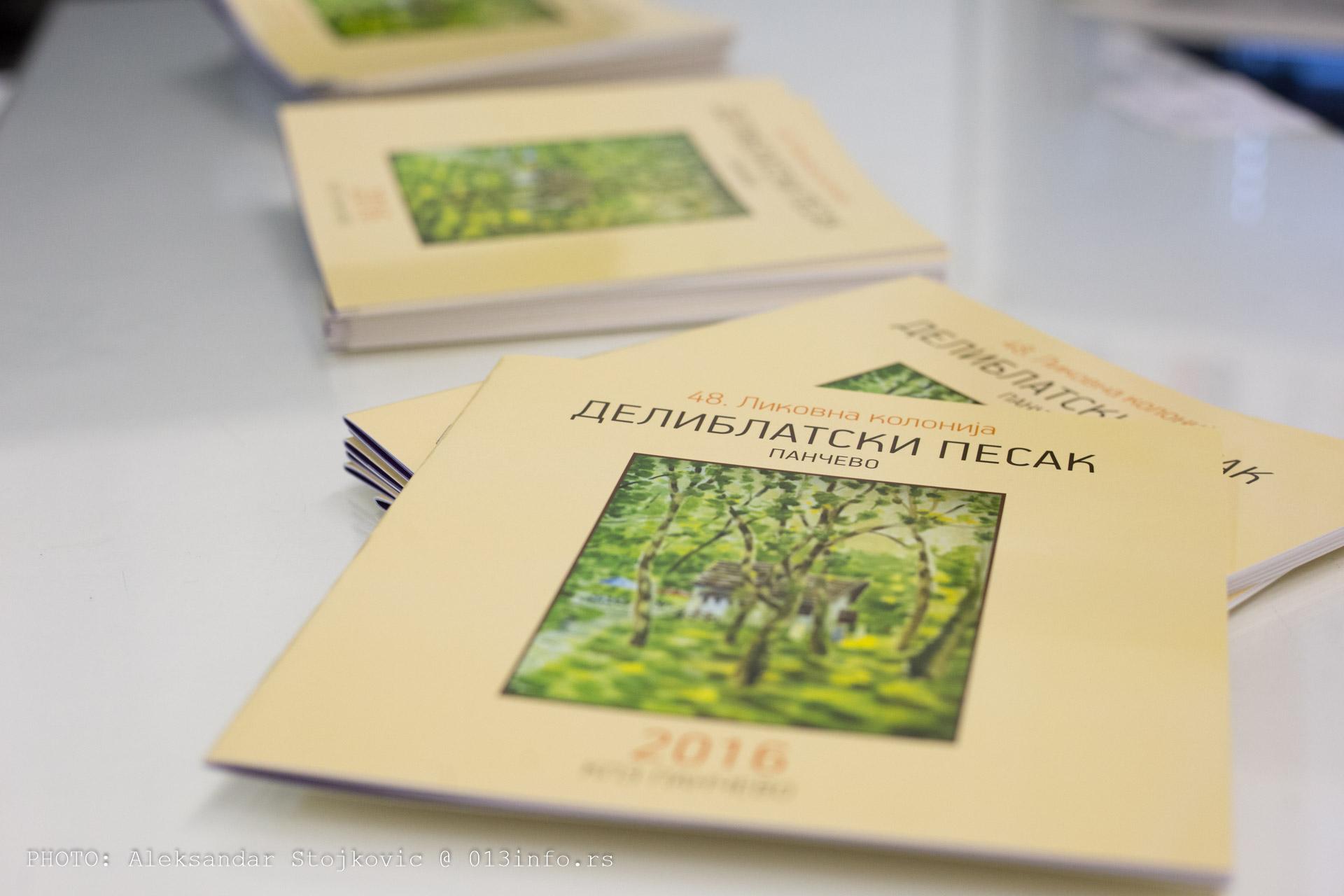 Katalog sa izložbe likovne kolonije Deliblatski pesak