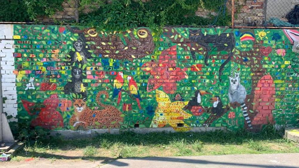 Mural u školi Mara Mandić