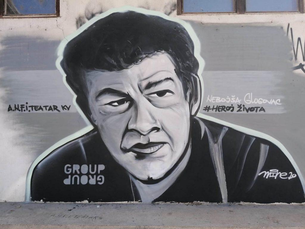 Mural s likom Nebojše Glogovca