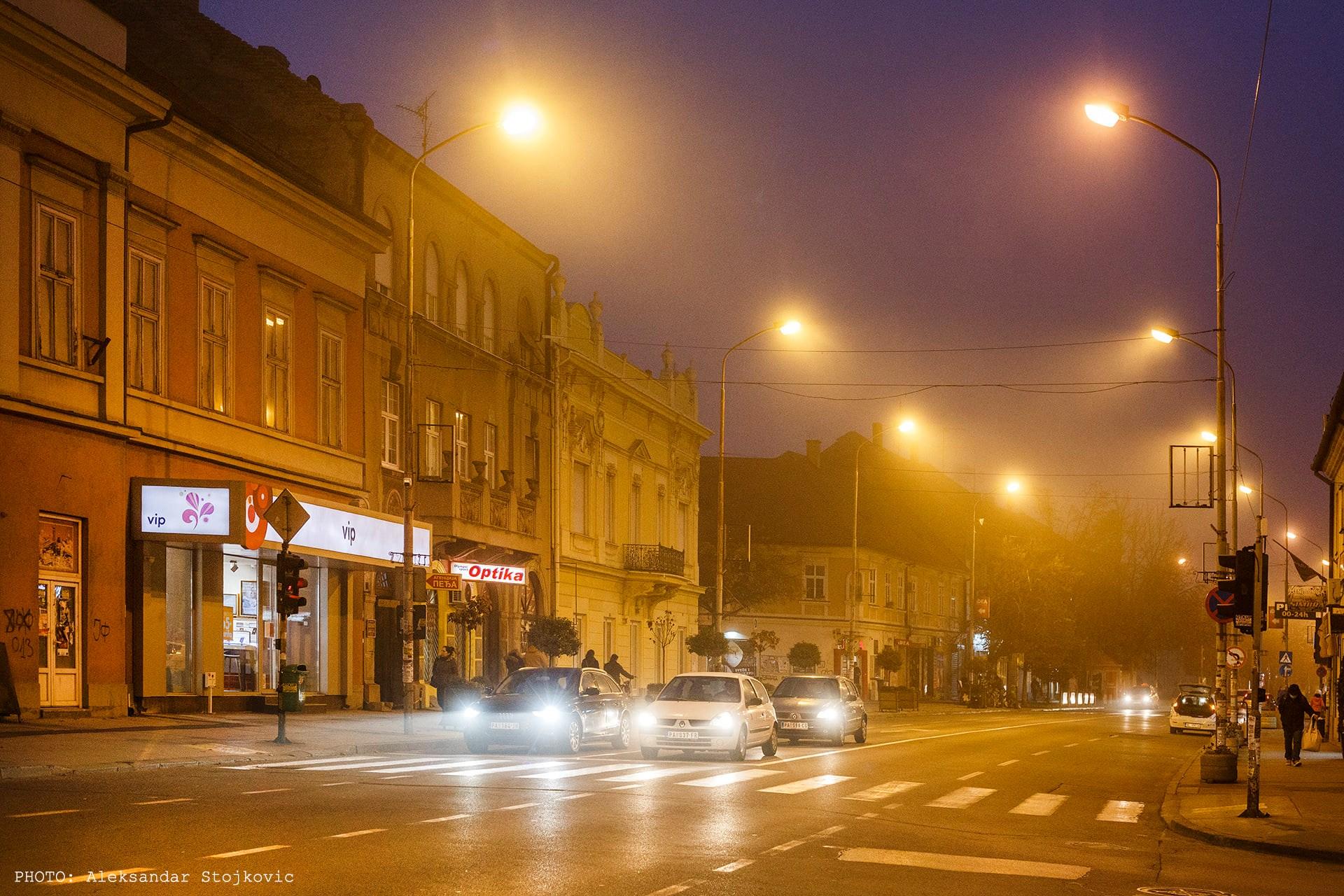 Pančevo noću
