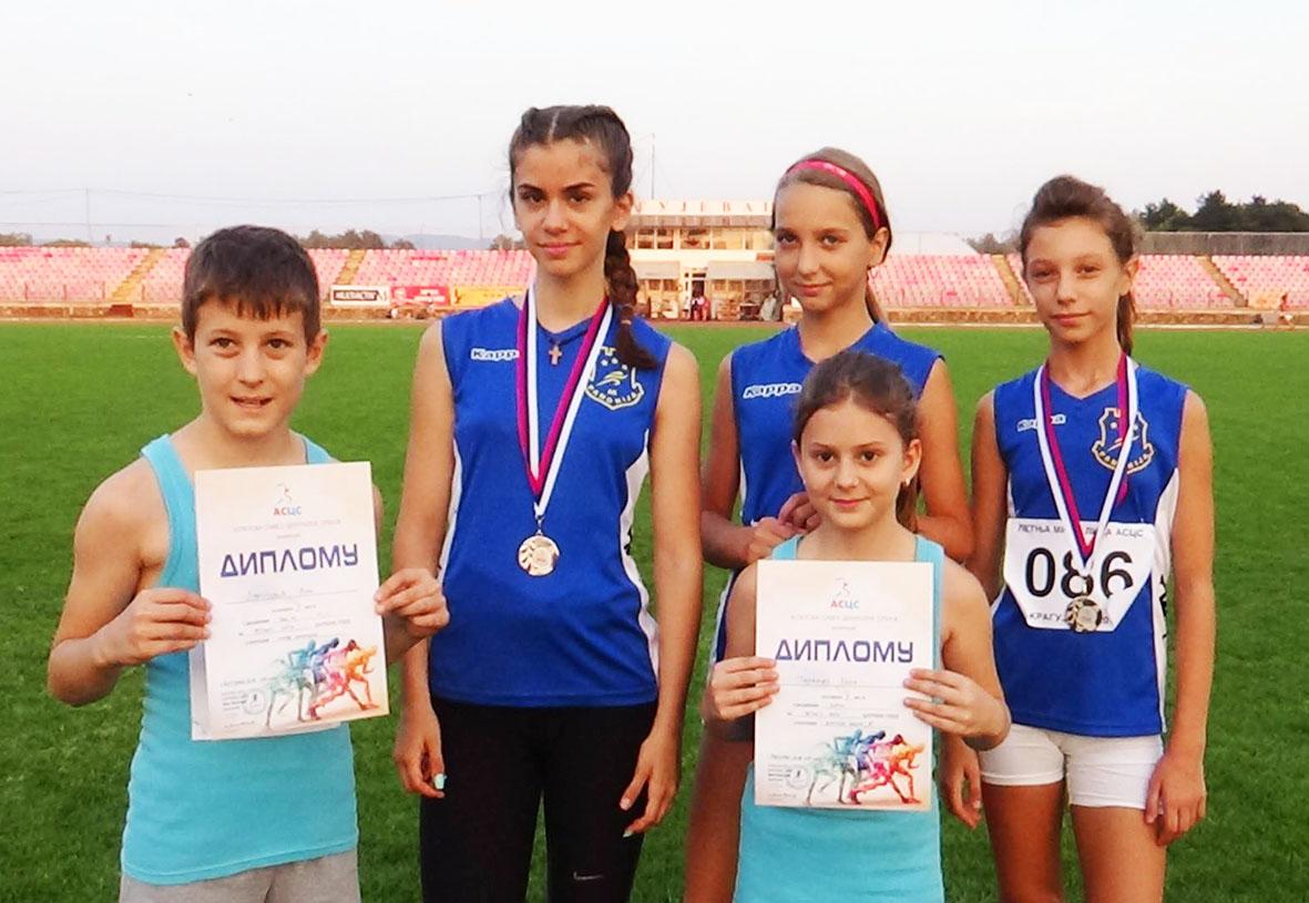 Atletičari Panonije u Kragujevcu