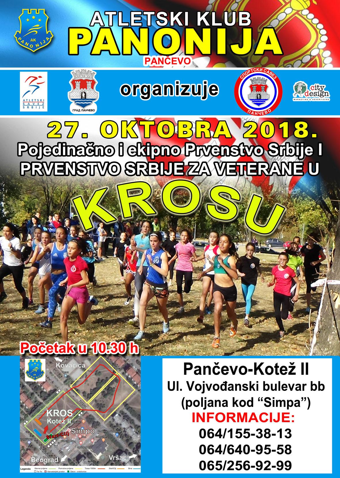 Prvenstvo Srbije u krosu, Pančevo