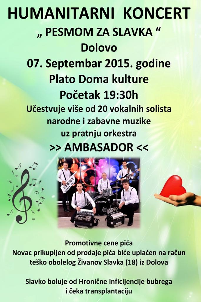 Plakat za humanitarni koncert