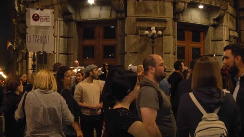Protest novinara Beograd