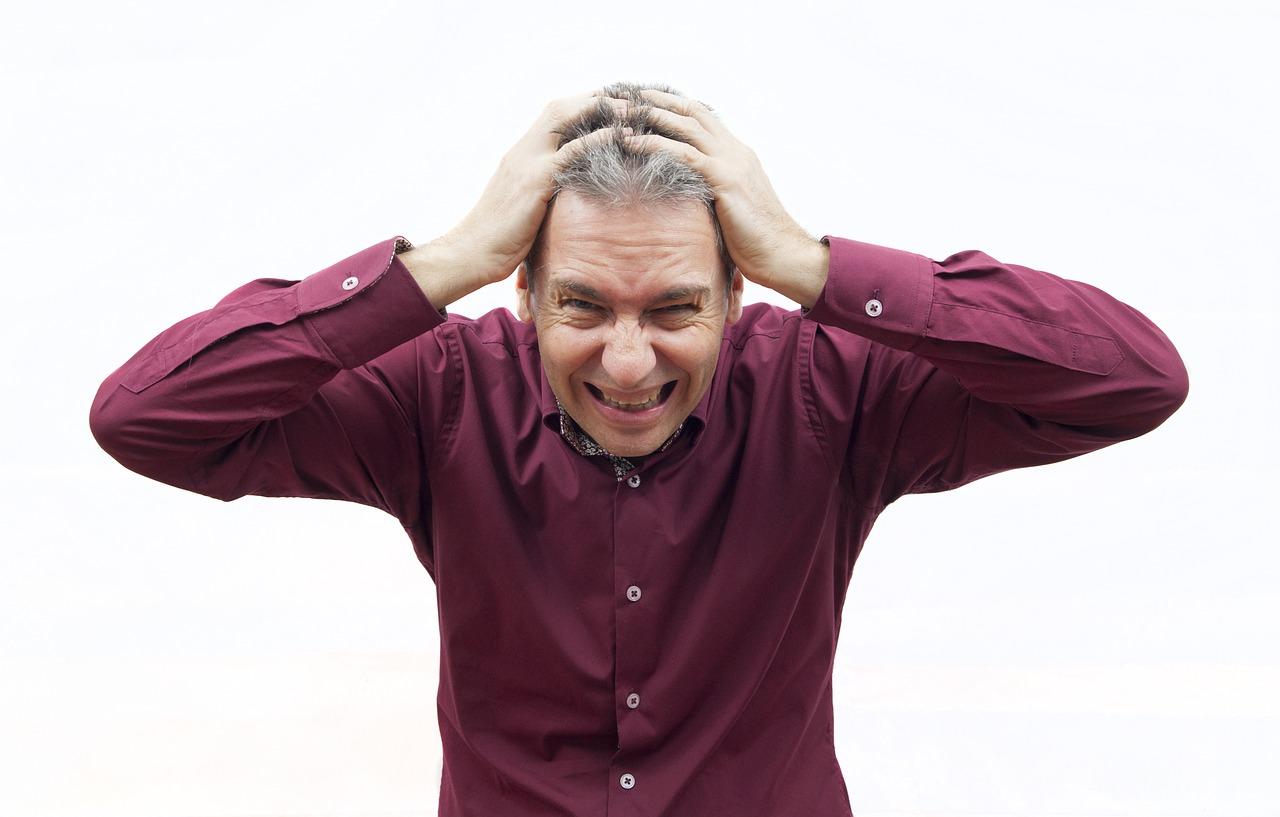 Stres, čovek koji se nervira