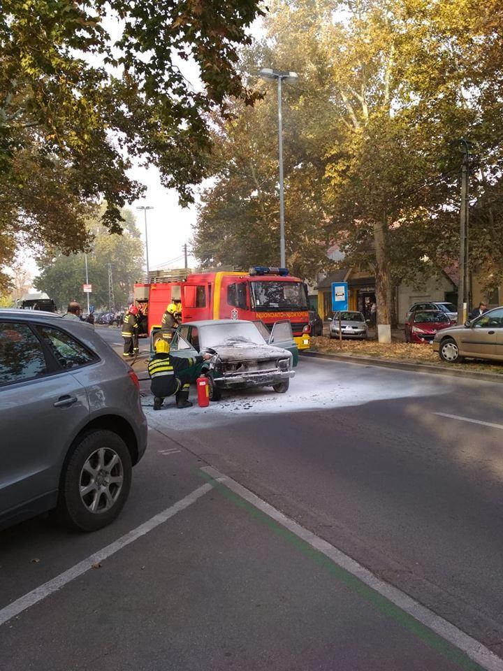 Zapaljeni automobil u Ulici Paje Marganovića
