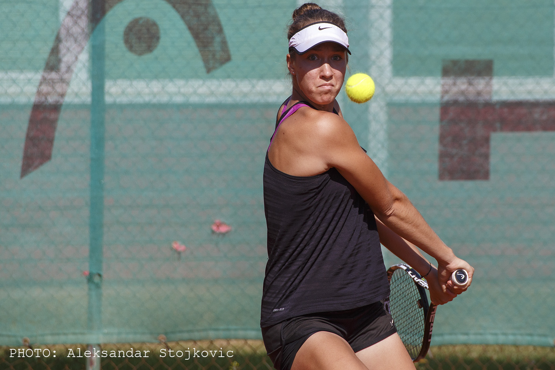 Daria Nazarkina na teniskom turniru u Pančevu