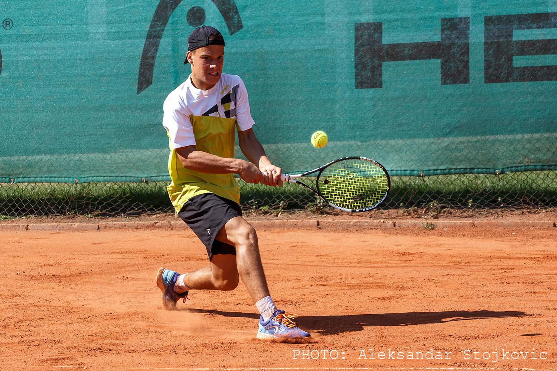 Marko Miladinović na teniskom turniru u Pančevu
