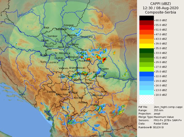 Radarska slika od 14.30