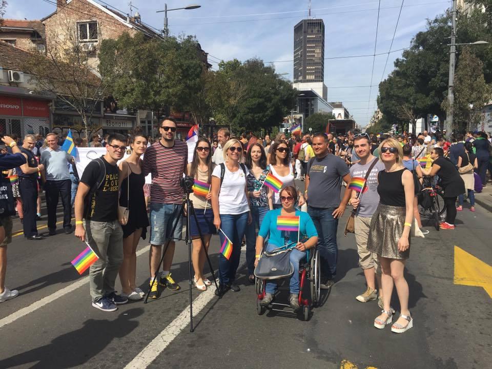 Ljupka Mihajlovski na gej paradi 2016.