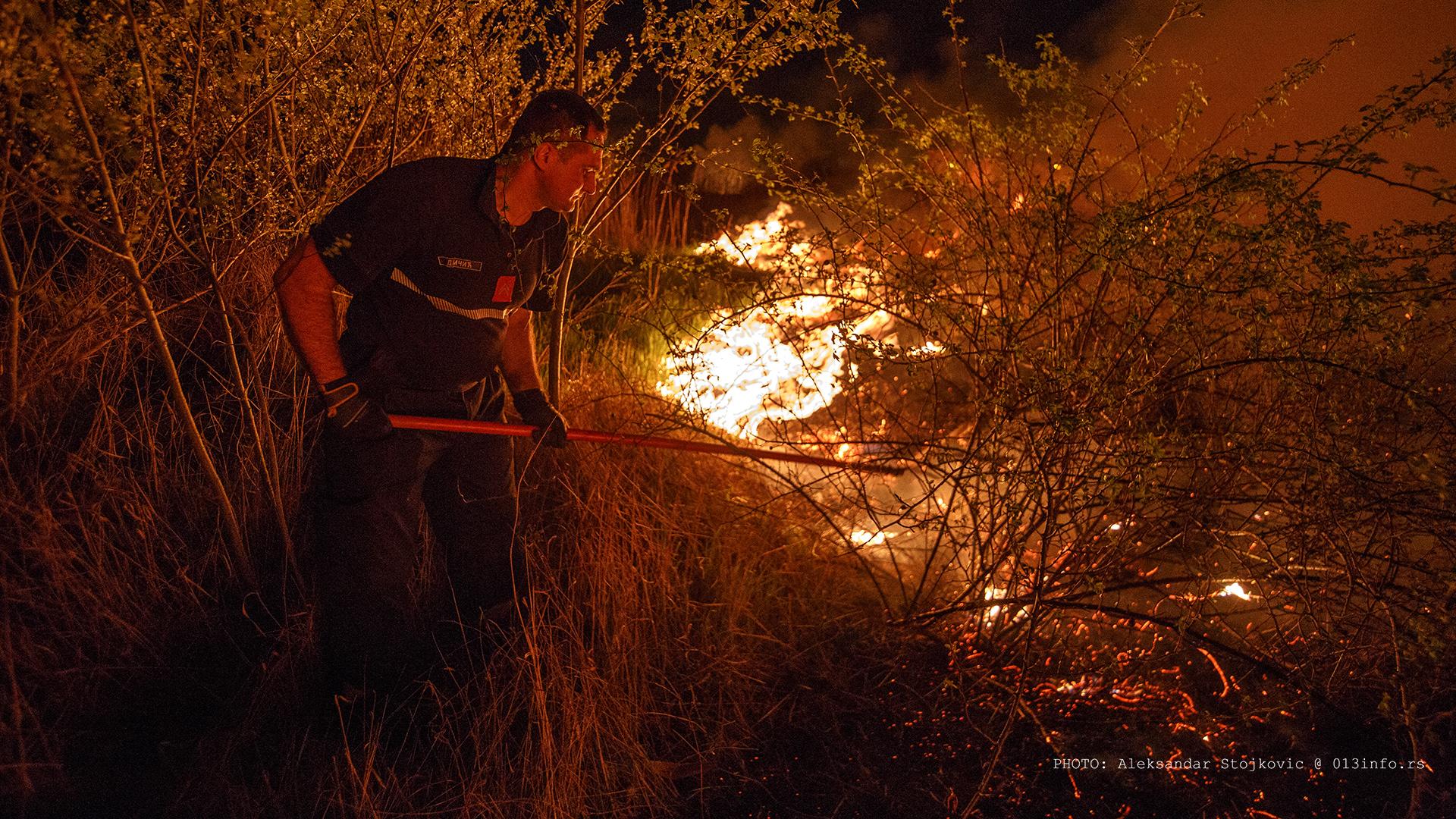 Požar u Topoli