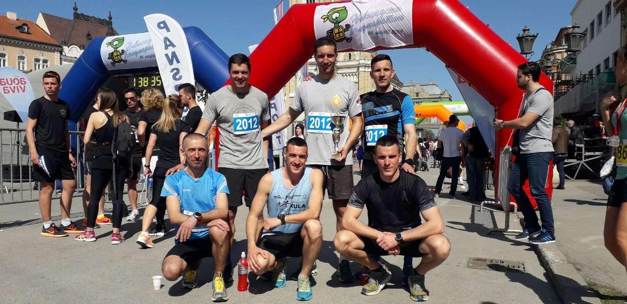 Štafeta Specijalne brigade na Novosadskom polumaratonu