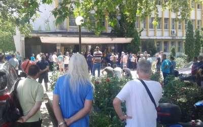 Protest ispred Azotare Pančevo