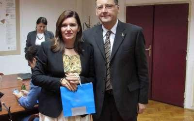 Ambasadorka Rumunije i gradonačelnik Pančeva Saša Pavlov