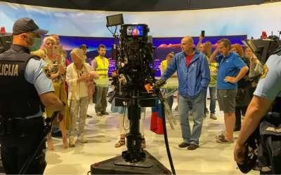 Antivakseri upali u studio RTV SLovenija