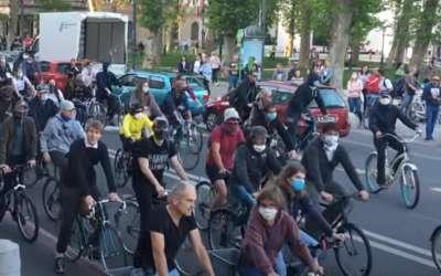Biciklisti u Sloveniji protestuju