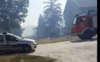 Požar na KOtežu
