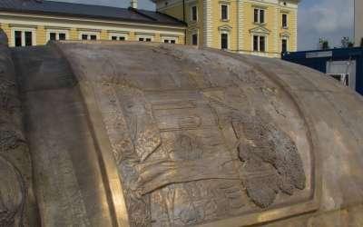 Postavljanje spomenika Stefanu Nemanji