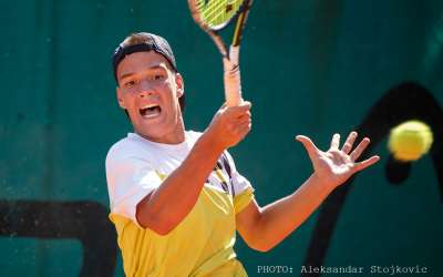 Tenis Marko Miladinović na turniru u Pančevu