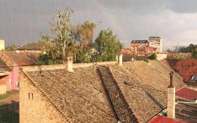 Kiša i duga u Pančevu