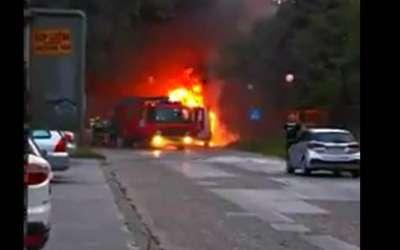 Požar kod Mikine škole