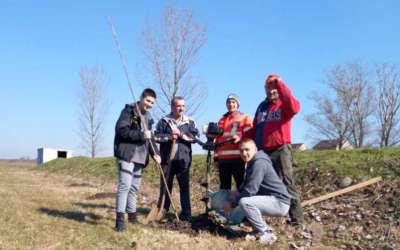 Članovi Konjičkog kluba sade drveće