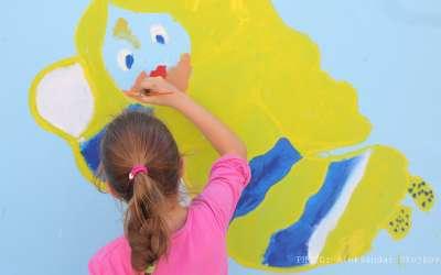Učenici su oslikali zid u Zmajevoj školi