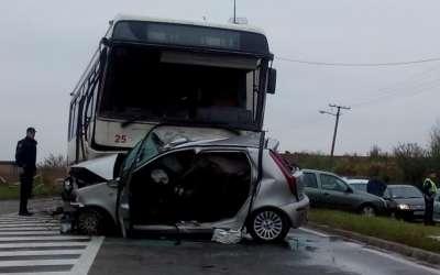 Saobraćajna nesreća kod Rafinerije Pančevo
