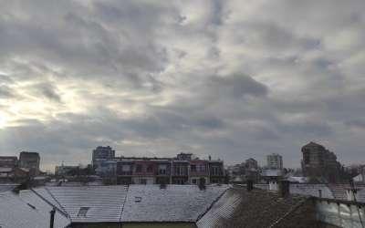 Pančevo jutro zima i sneg