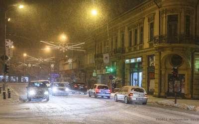 Pančevo, sneg, noć