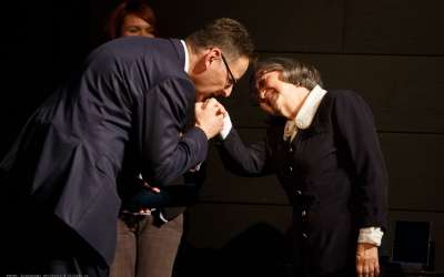 Saša Pavlov i Desa Petrov Morar, uručenje Novembarske nagrade grada Pančeva