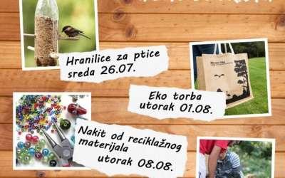 Plakat za eko radionice u Pančevu