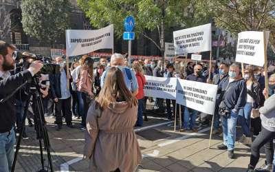 Protest turističkih radnika ispred Vlade Srbije