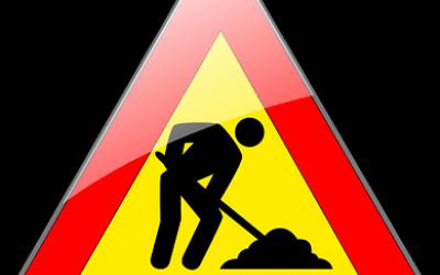Saobraćajni znak radovi na putu