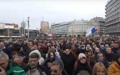 Antikorona protest